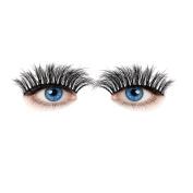 Handmade Natural Fake Eye LashesSOMESUN Women Beauty Fibre Eyelashes Long Cross Black Fake Eye Lashes