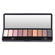 HeyBeauty 10 Colours Eye Shadow Palette, Natural Matte Makeup Eyeshadow, Neutral Nudes Highly Pigmented Cosmetic with Mirror & Brush