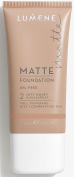 Lumene Matt Control Oil Free Foundation for Oily and Combination Skin Full Coverage with Arctic Cloudberry 30 ml / 1.0 Fl.Oz.