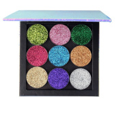 Weicici Empty Magnetic Palette + 9pcs Glitter Single-Colour Eye Shadow Beauty Cosmetics