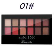 Buimin 12-colour Waterproof Non-blooming Lasting Matte Pearl Blush Eye Shadow Disc
