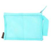 prelikes Portable Travel Toiletry Pouch Nylon Mesh Cosmetic Makeup Organiser Bag Zipped