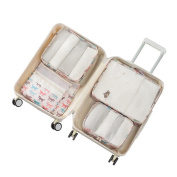 Packing Organiser Travel Storage Bags Printing 6Pcs Luggage Pouch Accessories