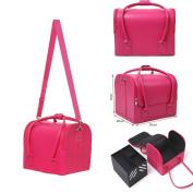 SavingPlus Beauty PU Box Cosmetic Makeup Make up Vanity Case Therapist Nail Artist Kit