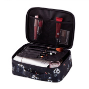 dragonaur Fashion Flamingo Print Zipper Portable Makeup Brushes Holder Bag Pouch size Medium