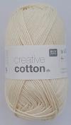 RICO CREATIVE COTTON DK HAND KNITTING YARN - 50g 02 Natural