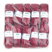 Gründl Alaska Print, 3422 – Pack 10 All Balls 100g – 80% Polyacrylic/20% Wool knitting yarn Cherry Colour, 40 x 37 x 11 cm