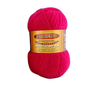 Celine lin One Skein Thick Wool Economy Hand knitting Yarn 100g,Rose red