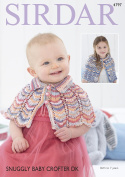 Sirdar 4797 Knitting Pattern Baby and Girls Capes in Sirdar Snuggly Baby Crofter DK