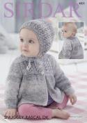 Sirdar 4803 Knitting Pattern Baby Jacket and Bonnet in Sirdar Snuggly Rascal DK