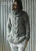 Erika Knight Ladies Sunday Sweater Maxi Wool Knitting Pattern Super Chunky