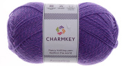 Charmkey Amazing Wool-up Yarn Comfortable Boutique 2 Fine Striping Multi-colours 3 Ply Baby Polyester Thin Yarn for Blanket Sock Hat Sweater and More, 1 Skein, 100ml