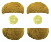 Wheat Yellow House of Cecilia 2 x 100g balls 100% acrylic knitting yarn crochet crafts