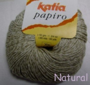 Katia Papiro cotton/linen yarn, 50g - Natural