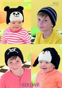 Sirdar Childrens Hats Knitting Pattern 4623 DK