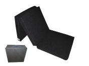 Natalia Spzoo Fold Out Guest Chair Z Bed Futon Folding Mattress 180x80x10 cm with cover bag BLACK