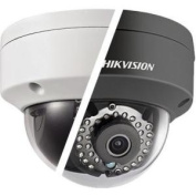HIKVISION HD Smart 4 Megapixel PoE Dome IP Outdoor Surveillance Camera, 4mm Lens, Black