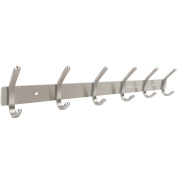 Coat Hooks Cack Wall Mount Hanger with 6 Double Stainless Steel Wall Hooks Hanger Towel Rack