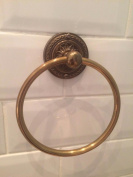 Antique Bronze Brass Embossed Base Guest Towel Ring Holder Vintage Style Wall Mounted WC Bathroom Accessories GTR-101E-AB