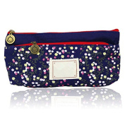 iTemer Pencil Case Cute Floral Pencil Pouch Double Zipper Pen Holder Make Up Cosmetic Bags Stationery Storage Bag