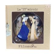 Filosofille Filo & Sofie Versailles 2 Sides Large Pocket Mirror Aluminium Diameter 7 cm