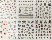 Nail Art Stickers – 3D Aufklber Nail New Design Nail Art Tips Over 150 Stickers On A Leaf 3D01
