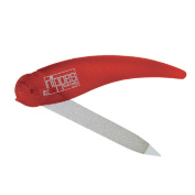 Nippes Nail File 62E, Pocket Format, Sapphire, High Quality Hardened Steel, Double Sided for Perfect File and Finish