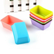10PCS/Lot Silicone Cake Mould Rectangular Muffin Cup Brownie Pudding Jelly Mould Silicone Soap Mould