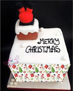 Christmas Festive patterned edible cake band/ribbon in fondant icing by Topped Off