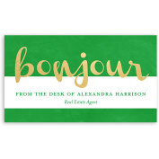 Bonjour - Personalised 3.5 x 2 Business Card