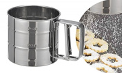 Gravidus Stainless Steel Flour Sifter, With One-Hand Mechanism