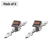 Zhi Jin 2Pcs Square Cabinet Knobs with Backplates Crystal Glass Furniture Drawer Knob Pulls Cupboard Coffee Small