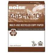 ASPEN 100% Multi-Use Recycled Paper, 92 Bright, 9.1kg, 11 x 17, White, 2500/CT CAS054925