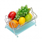 Fruit Basket Creative European Style Stainless Steel Colour Shuiguolan Living Room Decorate The Fruit Basket Of Fruit Storage Basket Lishui Fruit Bowl,A