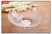 Fruit Basket European Crystal Glass Compote Creative Modern Minimalist Kitchen Living Room Coffee Table Thick Fruit,A