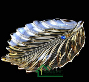 Fruit Basket European Creative Personality Fashion Crystal Glass Leaves Fruit Fruit Plate Decoration Home Furnishing Wedding Gifts