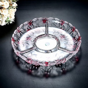 Fruit Basket European Style Creative Modern Crystal Glass Fruit Panel Household Tea Sitting Room Fruit Bowl