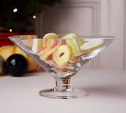 Transparent, Footed Fruit Bowl 10.5 x 19.5 cm Limonge 750ml