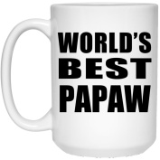 World's Best Papaw - 440ml Coffee Mug, Ceramic Cup, Best Gift for Birthday, Christmas, Thanksgiving, New Year, Anniversary