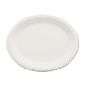 Chinet Paper Dinnerware, Oval Platter, 9-3/4 x 12-1/2, White - Includes 500 platters.