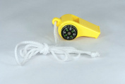 Marine Sports Manufacturing Combo Compass and Thermometer Whistle Yellow