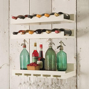 Wall-Mounted Solid Wood Wine Shelf Nordic Vintage Hanging Wall Wine Stand Hanging Wine Cabinet Creative Goblet Frame Wine Rack , Single Place Cup Frame