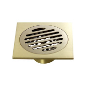 Zhi Jin 1Pc Square Brass Shower Floor Drain Strainer Net with Cover Removable Bathroom Kitchen Washing Machine Single-use