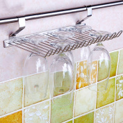 LC European Stainless Steel Kitchen Pendant Glass Rack 10 Cups 30 * 16 * 8.5CM