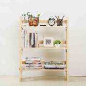stable Rack, Solid wood bookshelf simple fold bookcase Shelf Display stands Pine Shoe rack Storage rack Simple and elegant