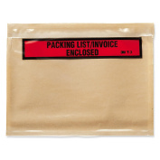3M Packing List/Invoice Enclosed Envelope - Packing List - 18cm . x 14cm . - Self-sealing - Poly - 1000/Box - Brown