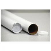 General Supply Round Mailing Tubes, 15l x 7.6cm dia., Brown Kraft, 25/Pack