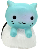Slow Rising Squishies Jumbo Mingfa Cute Sushi Cat Stress Reliever Squeeze Decompression Toys for Kids Adults ADD ADHD Autism