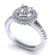 0.94CT and round cut diamonds engagement ring