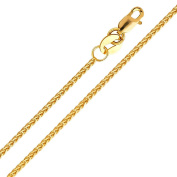 18ct Ladies Yellow Gold Diamond Cut Spiga Chain – 1.5 mm – Various Lengths Available
